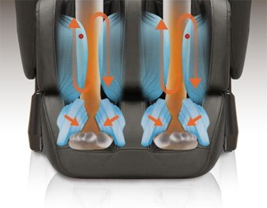 Massaggio del piede con cuscini d'aria